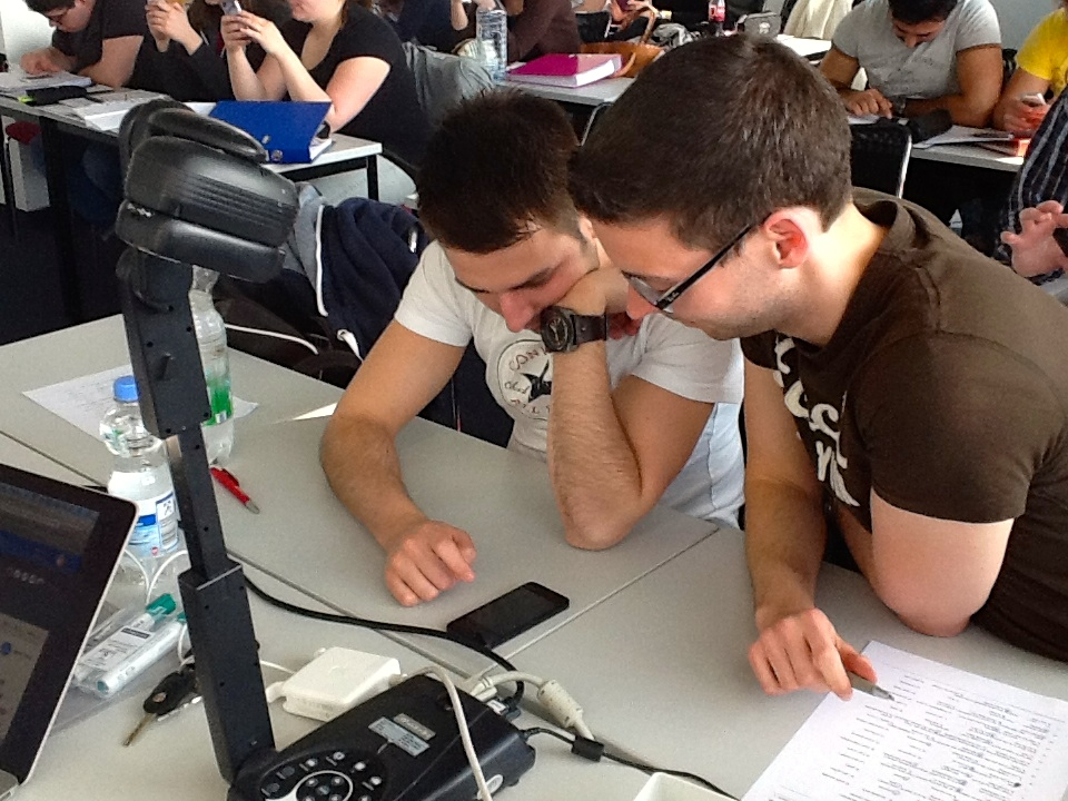 Students studying online